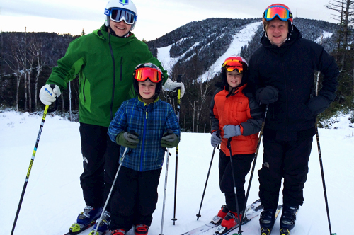 Family Skiing at Gore